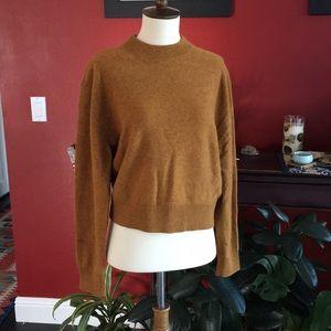 Uniqlo U wool mustard mock neck sweater